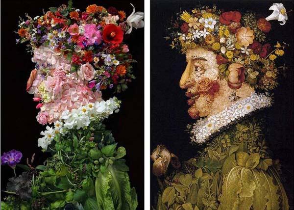 perierga.gr - Πορτρέτα του 16ου αιώνα με φρούτα και λουλούδια!