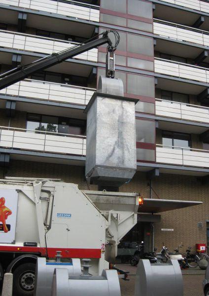 Perierga.gr - Κάδοι απορριμάτων στο Άμστερνταμ