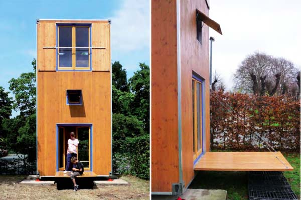 "perierga.gr - Τριώροφο ""φορητό"" σπίτι μόλις 7 τετραγωνικών!"