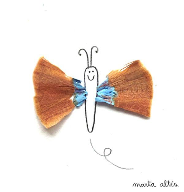 perierga.gr - Δημιουργώντας σκίτσα με ξύσματα μολυβιών!