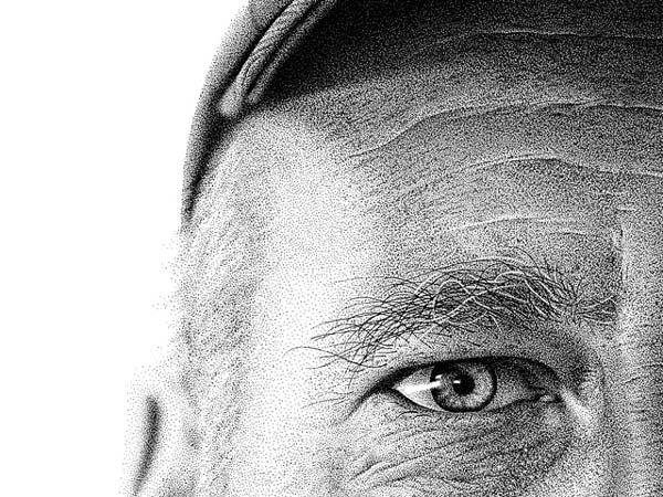 perierga.gr - Εντυπωσιακό πορτρέτο με 2,1 εκατομμύρια κουκίδες!