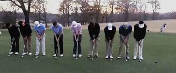 perierga.gr - 9 παίχτες του γκολφ βάζουν με τη μία 9 μπάλες στην τρύπα!!!