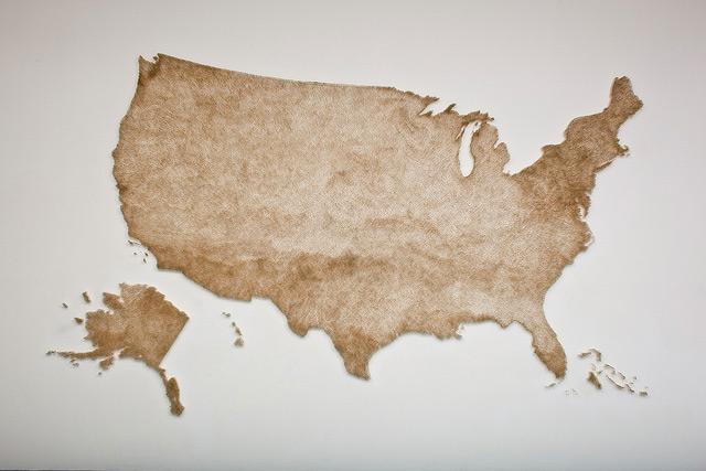 perierga.gr - Χιλιάδες σπίρτα αναπαριστούν τον αμερικανικό χάρτη!