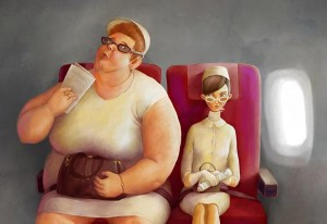 perierga.gr - Ανάλογα με τα κιλά των επιβατών θα χρεώνει αεροπορική εταιρεία!