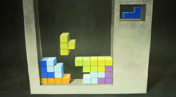 perierga.gr - Τρισδιάστατο Tetris φτιαγμένο από κιμωλία!