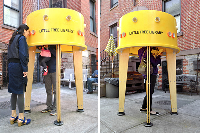 perierga.gr - Μικρογραφίες βιβλιοθηκών γέμισαν τις γειτονιές!