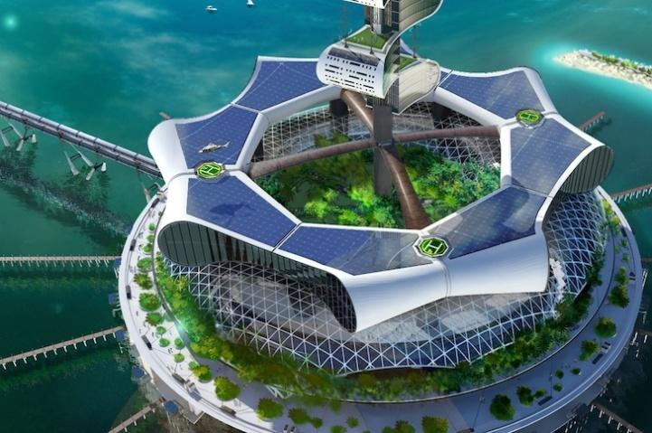 perierga.gr - Μαγευτικό ξενοδοχείο αναδύεται και καταδύεται στη θάλασσα!