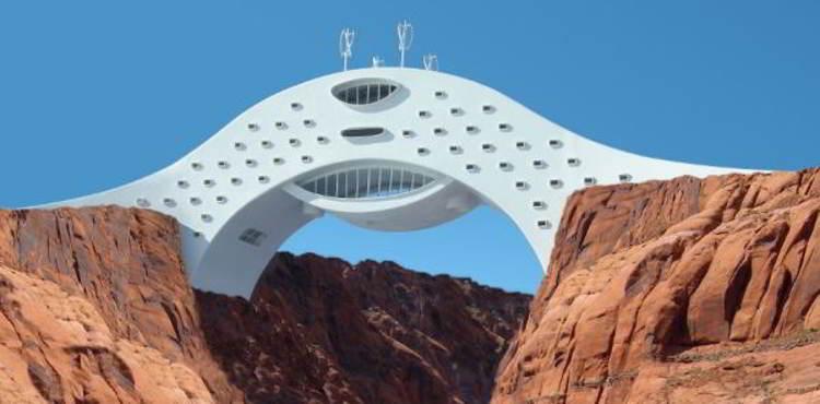 perierga.gr - Ξενοδοχείο-γέφυρα σε εκπληκτική τοποθεσία!