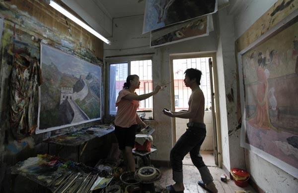 perierga.gr - Dafen: Το κινέζικο χωριό όπου όλοι ζωγραφίζουν πίνακες!