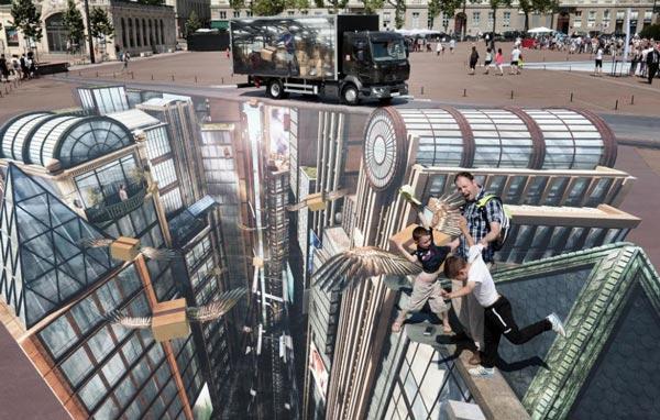 perierga.gr - Εκπληκτική street art 4.000 τετραγωνικών!