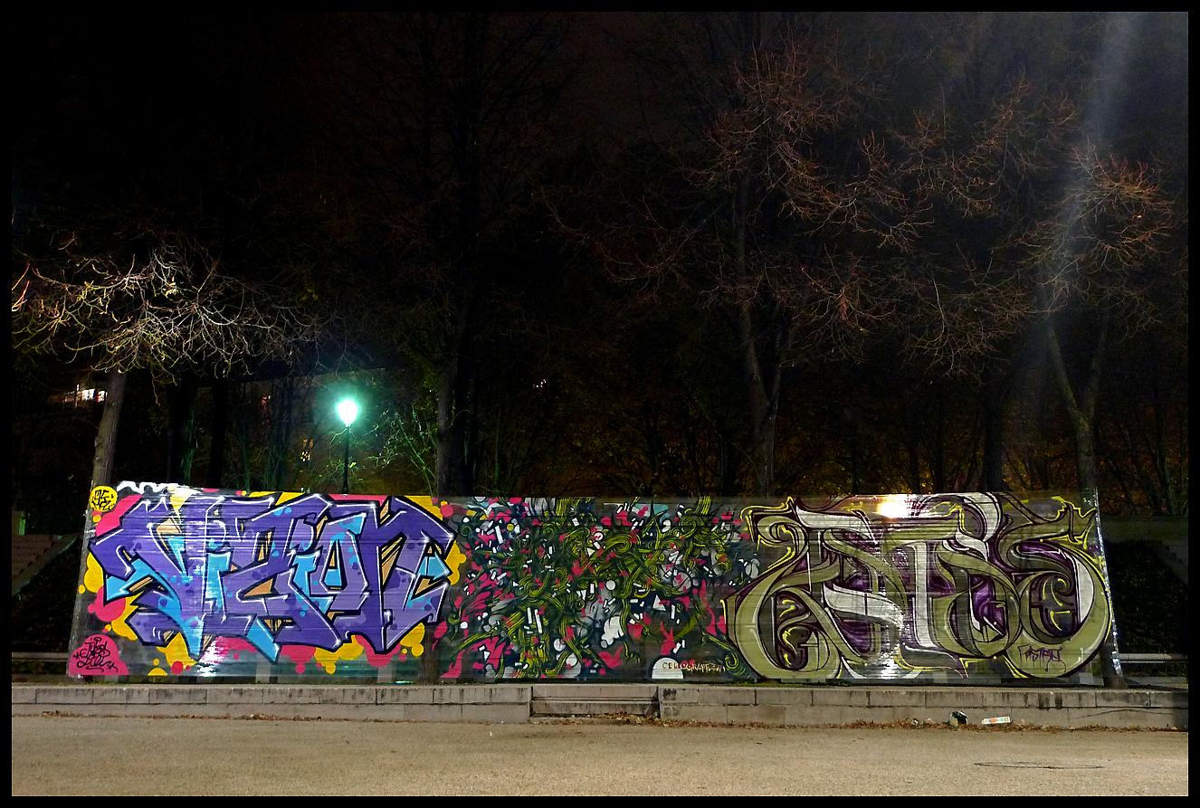 perierga.gr - Chellograff: Γκράφιτι σε... σελοφάν!