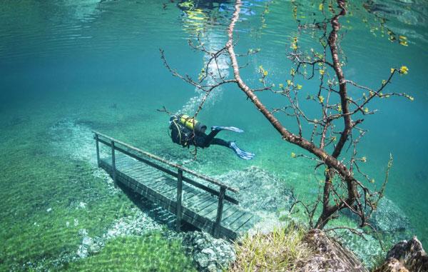 perierga.gr - Bόλτα στον απίθανο βυθό του υποβρύχιου «πάρκου» Tragoess!