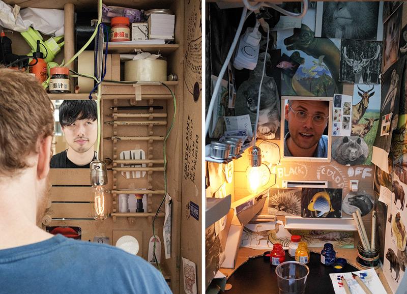 perierga.gr - Ταξιδεύει στον κόσμο και ζωγραφίζει πορτρέτα!