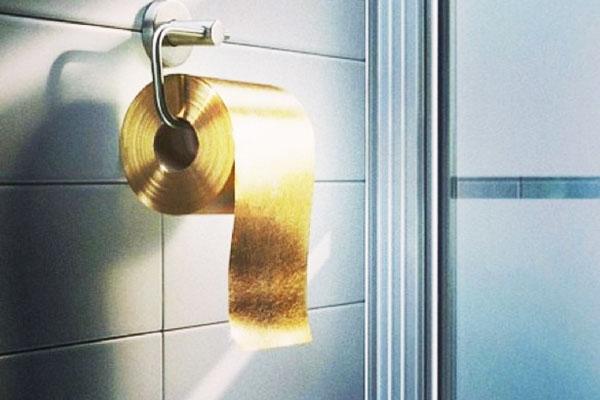 perierga.gr - Χρυσό χαρτί τουαλέτας για… μεταξωτά οπίσθια!