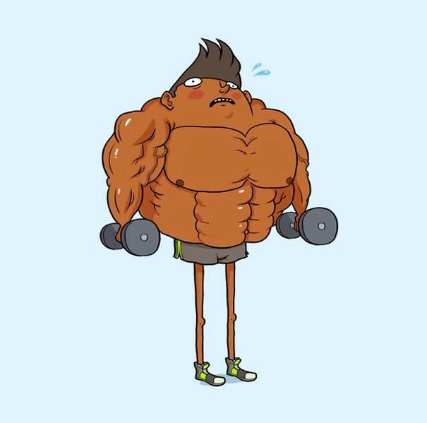 perierga.gr - 10 απίθανοι τύποι που θα συναντήσεις στο γυμναστήριο!