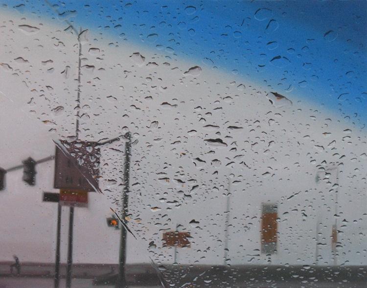perierga.gr - Ζωγραφίζοντας μια βροχερή μέρα στο παρμπρίζ του αυτοκινήτου!