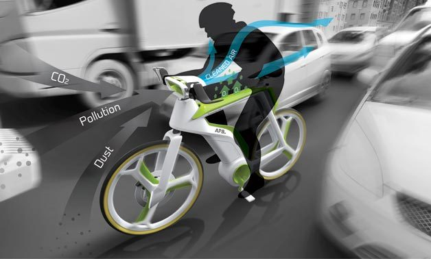 """perierga.gr - Οικολογικό ποδήλατο """"τρώει"""" το καυσαέριο!"""