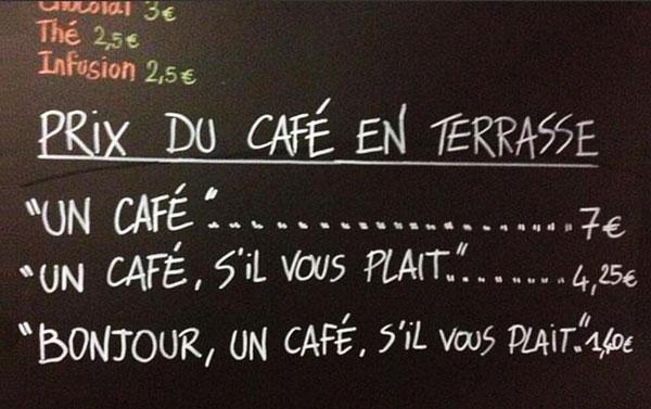 perierga.gr - Εναλλακτικές τιμές στον καφέ για... ευγενείς & αγενείς πελάτες!