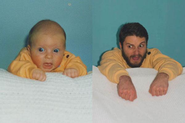 perierga.gr - Δύο αδέλφια αναπαράγουν εικόνες από την παιδική τους ηλικία!