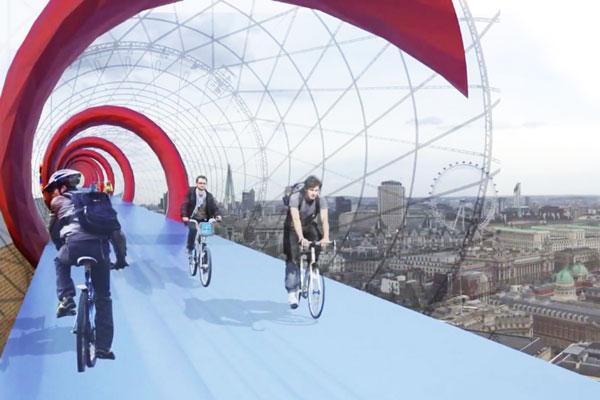 """perierga.gr - Sky Cycle: Ποδηλατόδρομος """"αιωρείται"""" στο κενό!"""