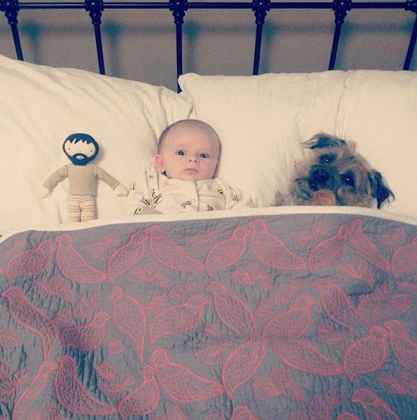 perierga.gr - Το νεογέννητο και ο σκύλος του!