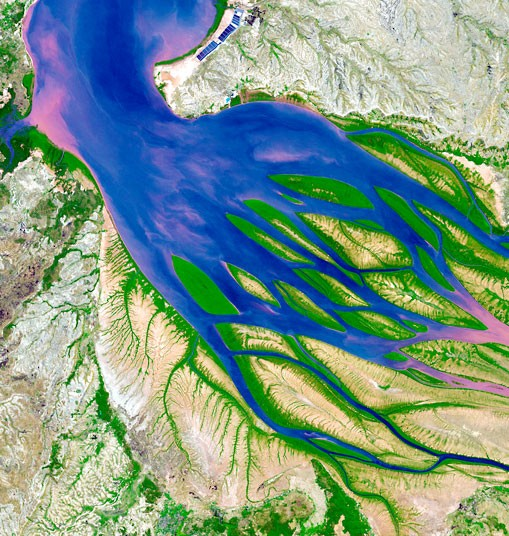 perierga.gr - Απίθανες δορυφορικές εικόνες από Δέλτα ποταμών!