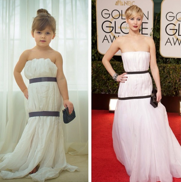perierga.gr - 4χρονη… σχεδιάστρια μόδας φτιάχνει ρούχα από χαρτί!
