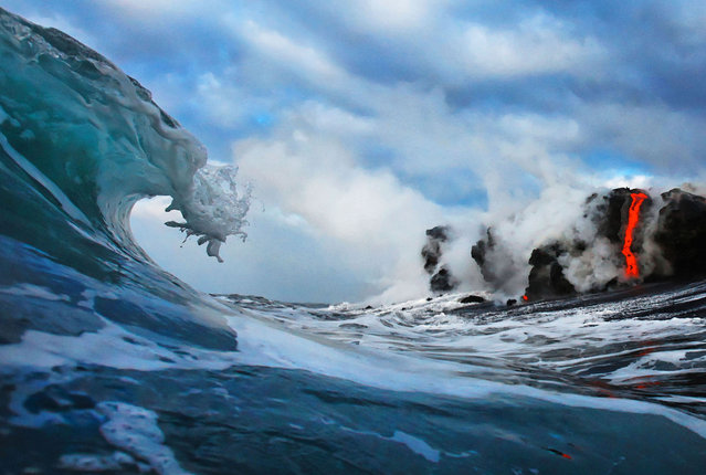 perierga.gr - Εκεί που η λάβα πέφτει στον ωκεανό!