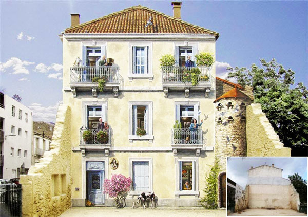 perierga.gr - Ζωγραφισμένες προσόψεις σπιτιών που εκπλήσσουν!