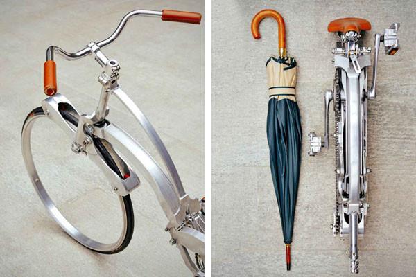 "perierga.gr - Σπαστό ποδήλατο χωρίς ακτίνες γίνεται ""ομπρέλα""!"