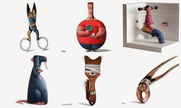 perierga.gr - Καθημερινά αντικείμενα μεταμορφώνονται σε αστείες φιγούρες!
