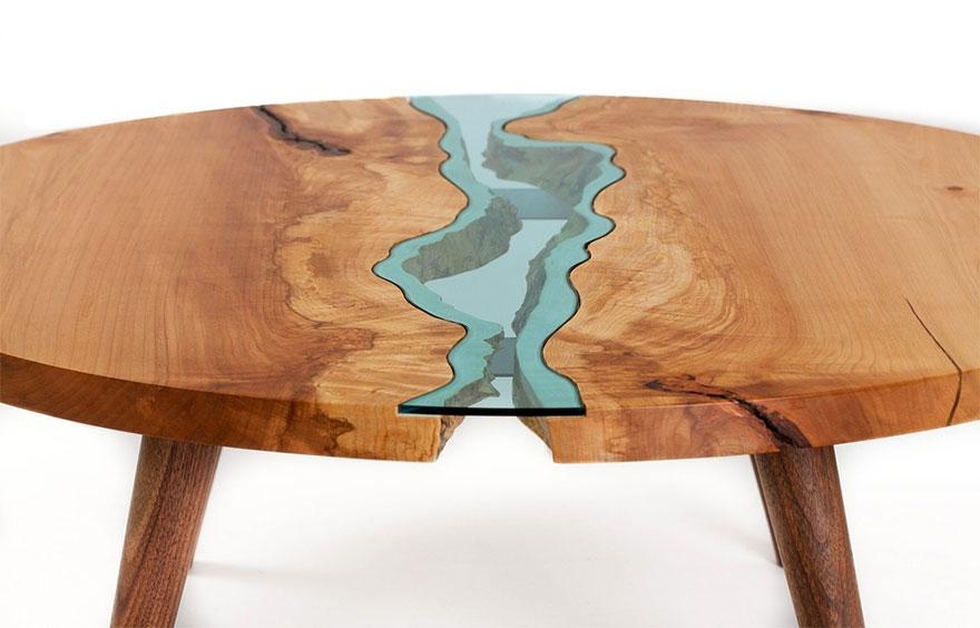 perierga.gr - Ποτάμια και λίμνες πάνω στα... τραπέζια!
