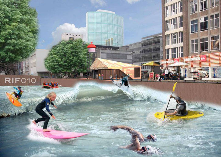 perierga.gr - Κανάλι στο Ρότερνταμ μεταμορφώνεται σε… πάρκο νερού!