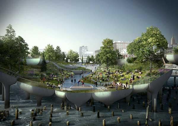 perierga.gr - Καταπράσινο πάρκο... επιπλέει στο νερό!