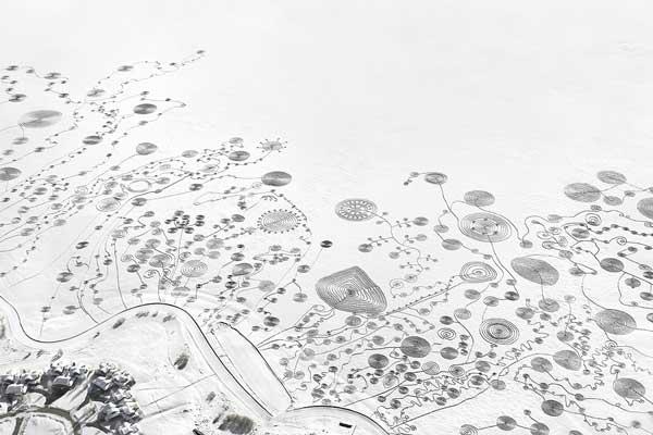 perierga.gr - Ζωγραφική πάνω στο χιόνι!