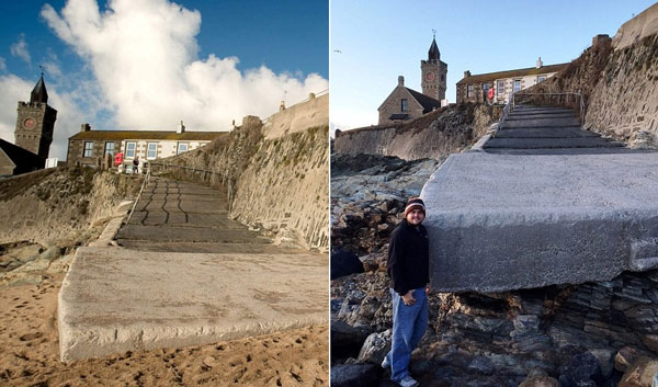 perierga.gr - Χάθηκε η παραλία σε μια νύχτα (και ξαναγύρισε)!