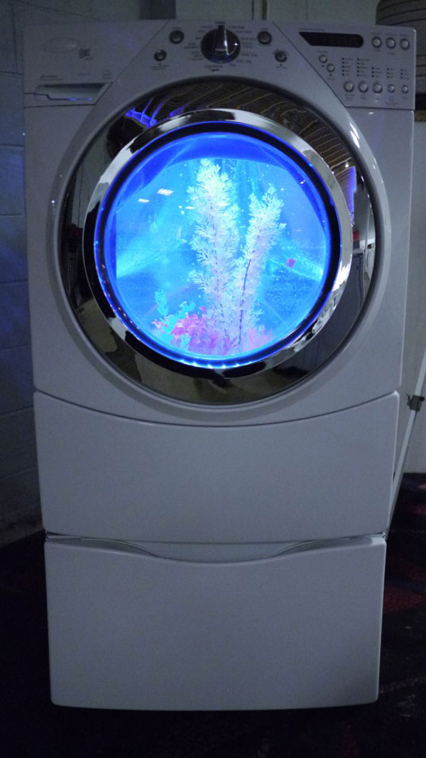 perierga.gr - Το πλυντήριο έγινε... ενυδρείο!