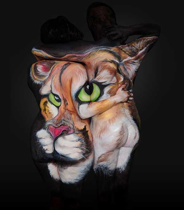 perierga.gr - Εξαιρετικό body painting προκαλεί τα βλέμματα!