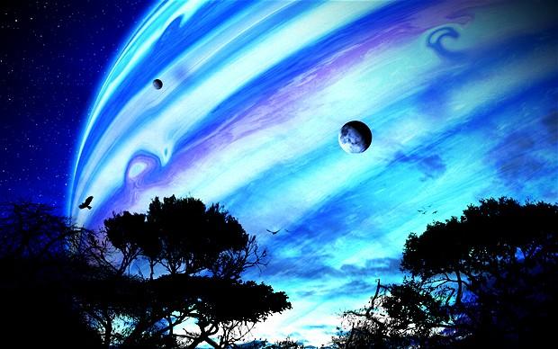 perierga.gr - Πώς θα έδειχναν οι πλανήτες από τη Γη αν έπαιρναν τη θέση της Σελήνης!