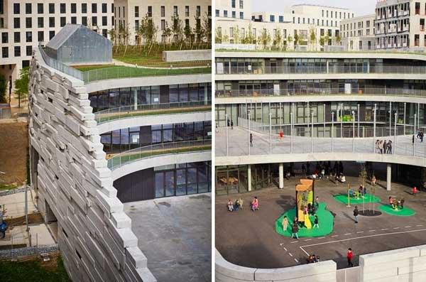 "perierga.gr - Ένα ""πράσινο"" σχολείο στο αστικό Παρίσι!"