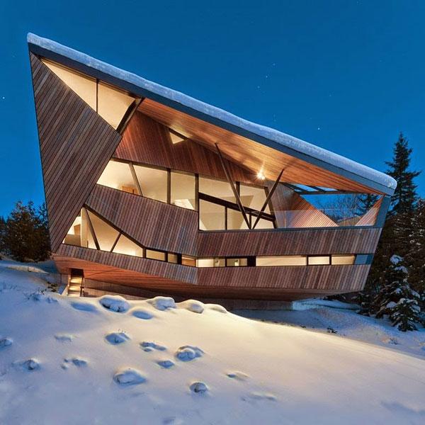 perierga.gr - Πολυμορφική εξοχική κατοικία στα χιόνια!