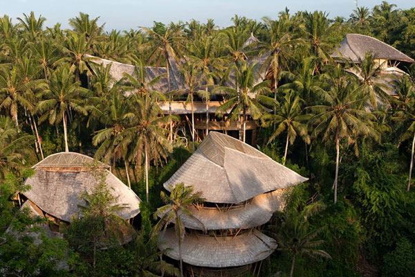 perierga.gr - Εγκατέλειψε τη δουλειά της και φτιάχνει σπίτια μπαμπού στην Ινδονησία!