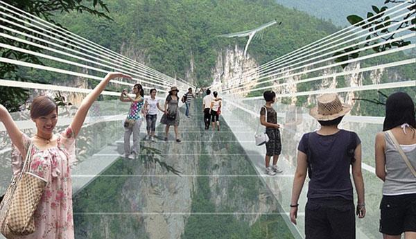 perierga.gr - Γέφυρα από γυαλί προσφέρει εξαιρετική θέα!