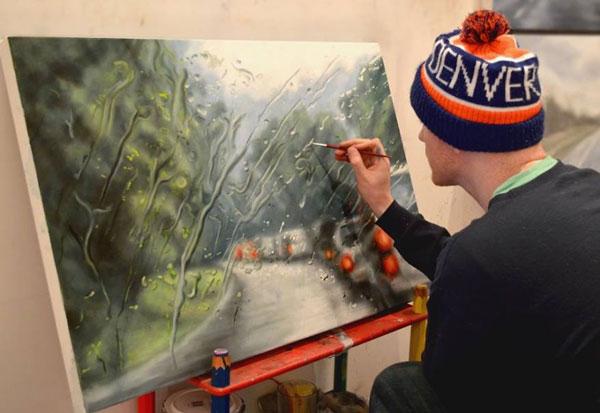 perierga.gr - Βροχεροί... πίνακες ζωγραφικής!