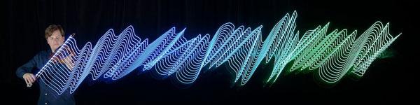 perierga.gr - Τα κύματα της μουσικής φωτίζονται στον αέρα!