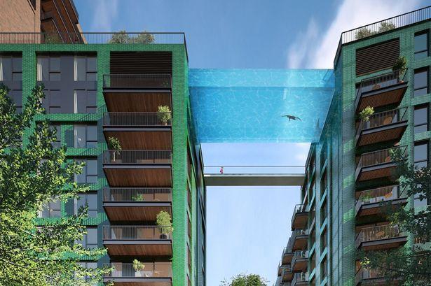 Perierga.gr - Μια πισίνα στον... ουρανό - Θα τολμούσες να κολυμπήσεις;