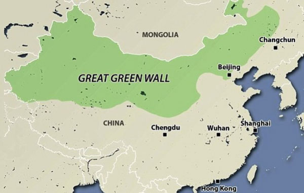 "perierga.gr - Το ""Μεγάλο Πράσινο Τείχος"" της Κίνας!"