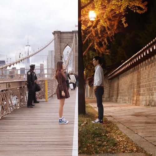 perierga.gr - Ένα ζευγάρι που ζει σε απόσταση ενώνει τη ζωή του με εικόνες!
