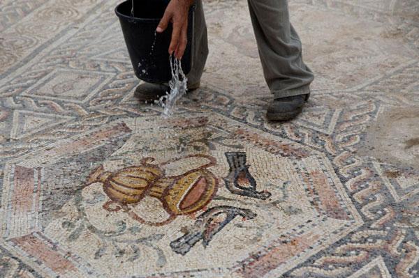 perierga.gr - Ρωμαϊκό μωσαϊκό βρέθηκε σε κήπο έπαυλης εν ώρα κατασκευών!