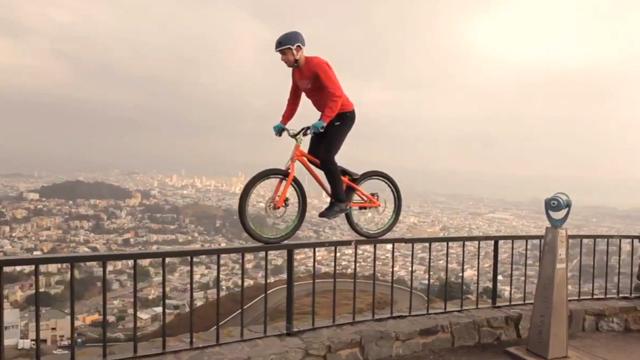 perierga.gr - Ποδήλατο στις ταράτσες της Ισπανίας!